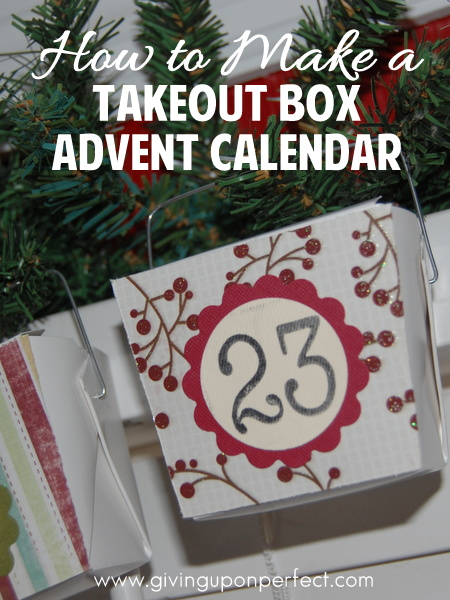 How to Make a Takeout Box Advent Calendar