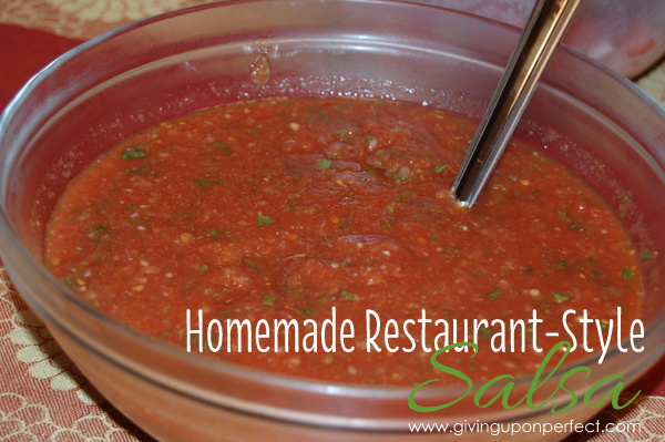 Recipe for Homemade Restaurant-Style Salsa