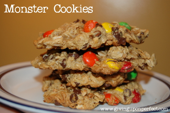 M&M Monster Cookies (flour-free recipe)