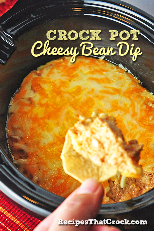 Crock Pot Cheesy Bean Dip