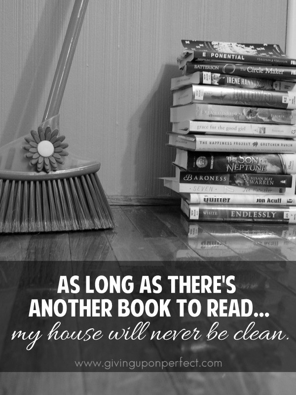 books vs. broom