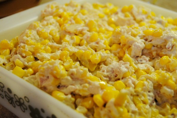 Recipe for Corn Casserole with Bacon