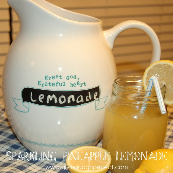 Drink Up! Sparkling Pineapple Lemonade