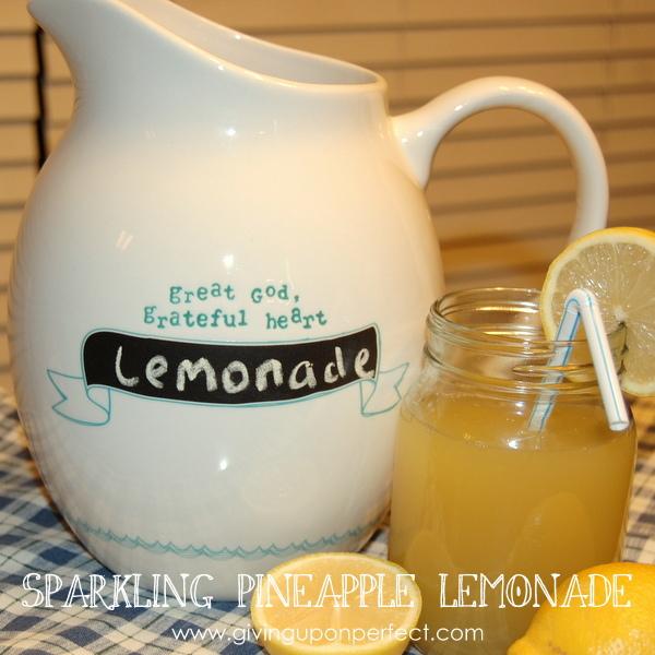 Drink Up! Sparkling Pineapple Lemonade