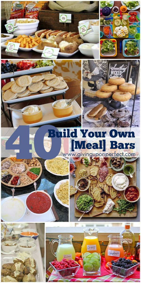 40 Ideas for Build Your Own {Food} Bars - great for party planning!