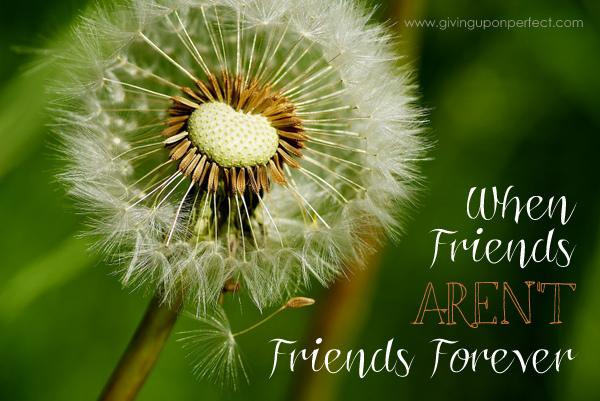 When Friends Aren't Friends Forever