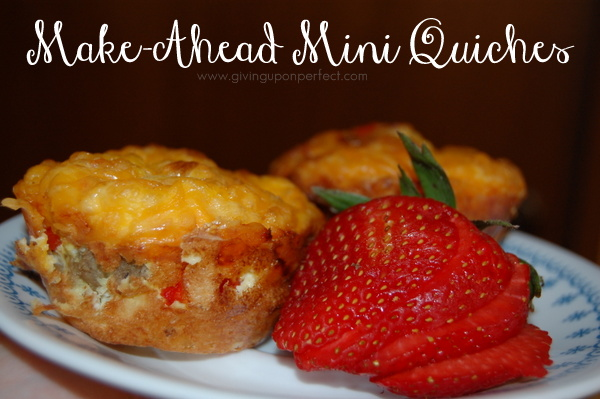 WFMW: Make-Ahead Mini Quiches