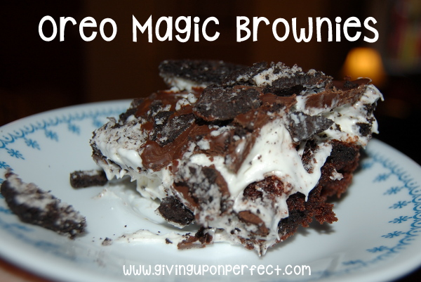 WFMW: Oreo Magic Brownies