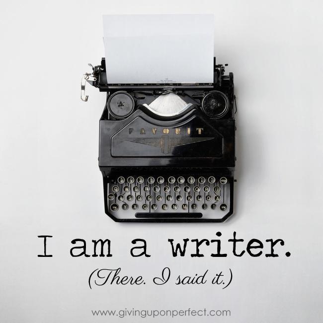 I'm Not Sorry to Call Myself a Writer